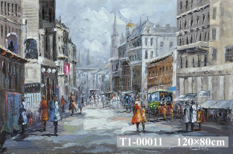 Old Paris Town Painting