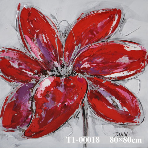 Red Petals Painting