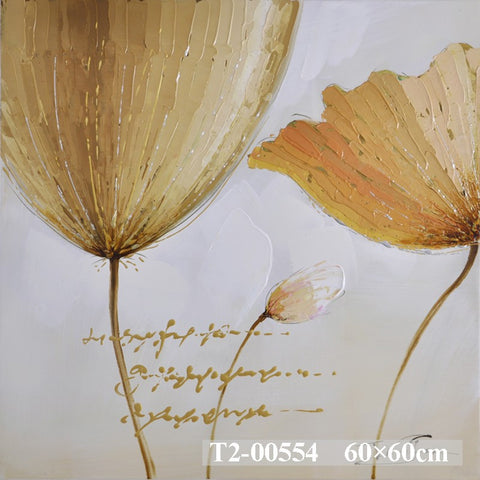 Golden Petals Painting