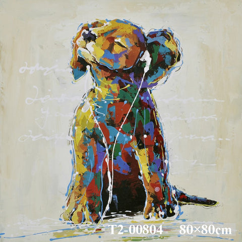 Puppy With Head Phones Painting