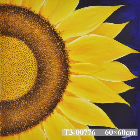 Sunflower On Blue Painting