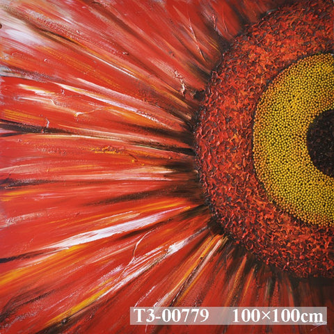 Sunflower In Red Painting