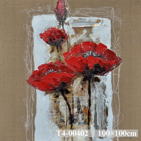 Red Dogwood On Hessian 2 Painting