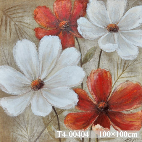 Flowers On Hessian Painting