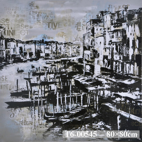 Venice Canal Sketch Painting