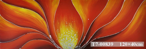 Red Lotus Painting