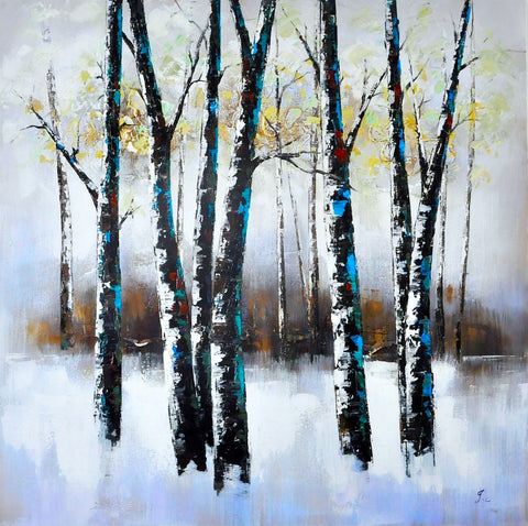 hand painted forest oil on canvas painting melbourne