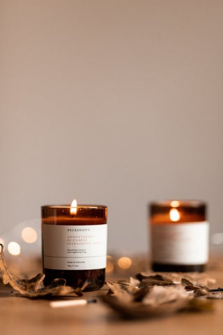Candles and warm glow