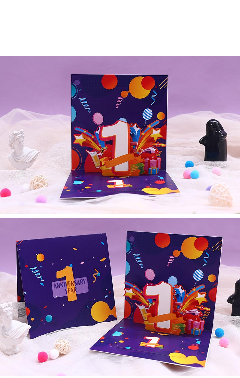 First Anniversary Pop Up Card display 1
