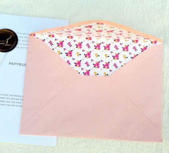Anniversary Card - Dressing Gowns for him and her - matching salmon envelope
