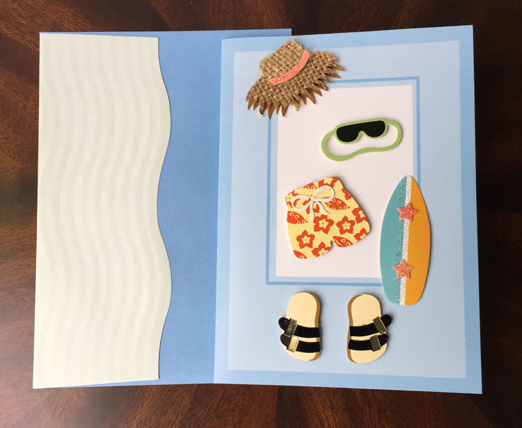 Birthday Card - Beach - card and matching envelope