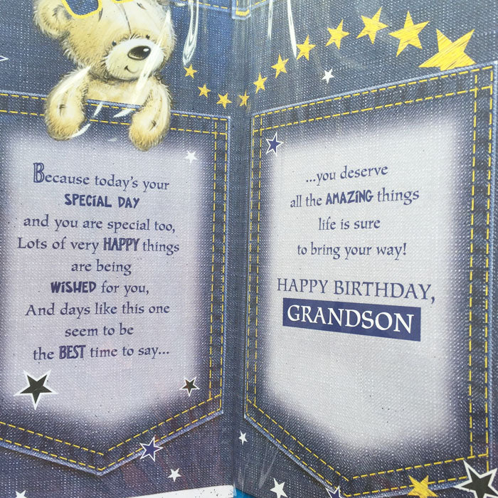 Birthday Card - Brilliant Grandson