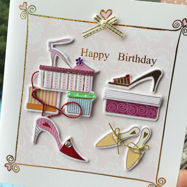 Birthday Card - New Shoes - close up 2