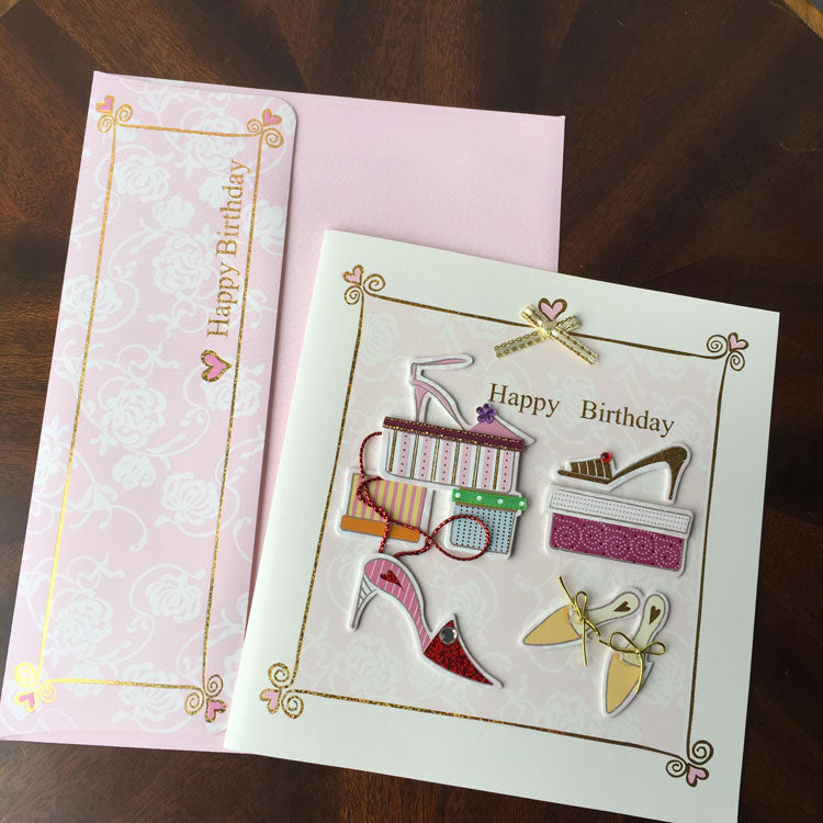 Birthday Card - New Shoes - matching envelope - back