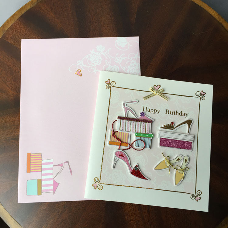 Birthday Card - New Shoes - matching envelope - front