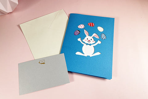 Easter bunny pop up card, tag and matching envelope