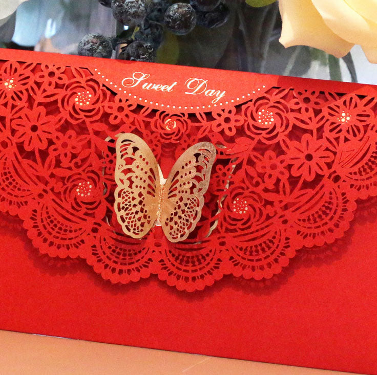 Lace-themed decorative envelope in various colours3