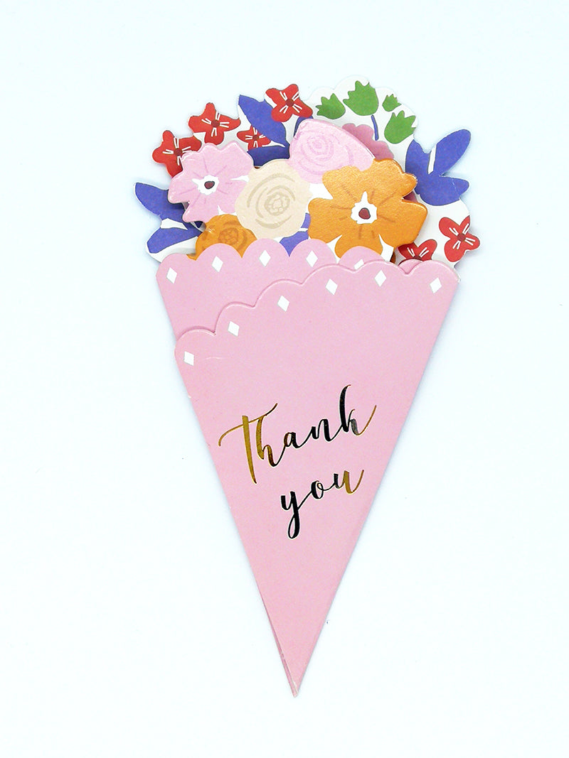 Small thank you flower bouquet  - pink front