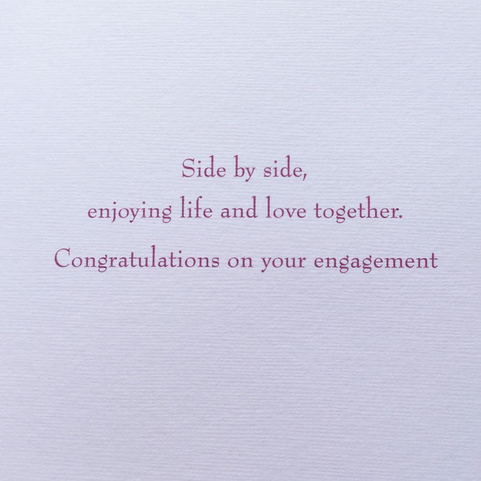 Towels - Funny Engagement Card - inscription inside