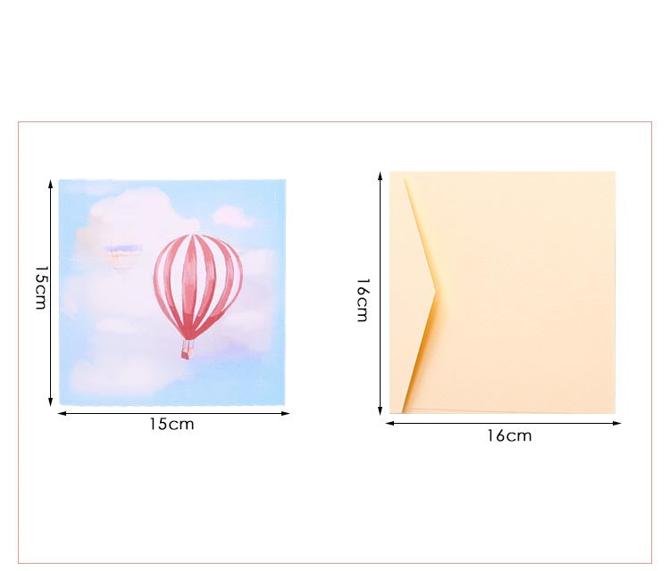 baloon pop up card - sizes