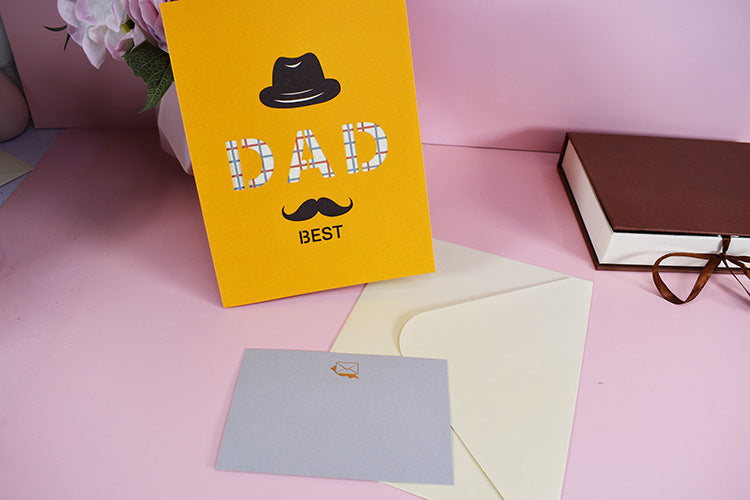 best dad pop up card - card, tag and matching envelope