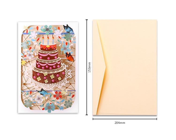 birthday cake cut out card - spec