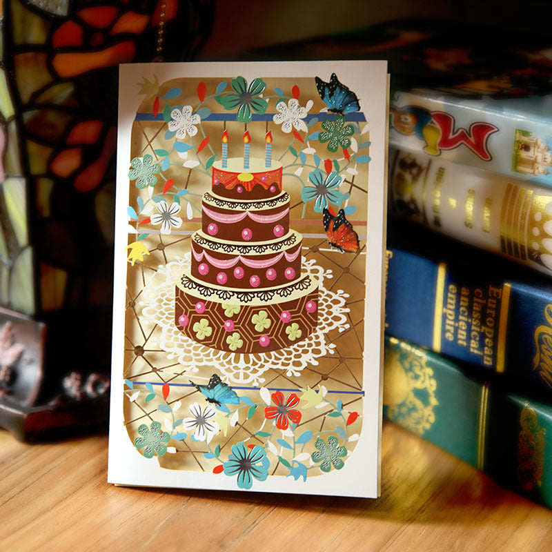 birthday cake cut out card 2
