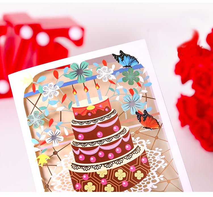 birthday cake cut out card details