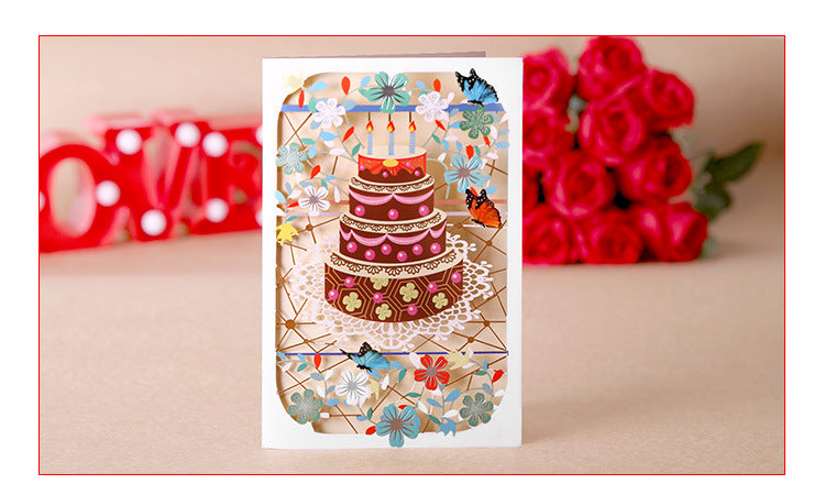 birthday cake cut out card