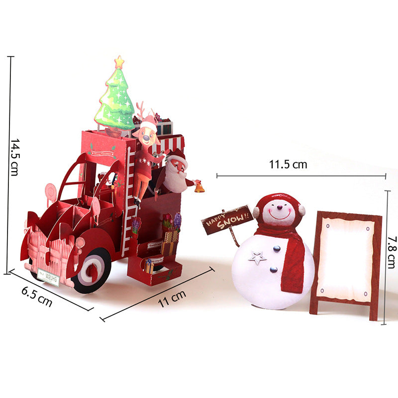 christmas truck puzzle card - set size