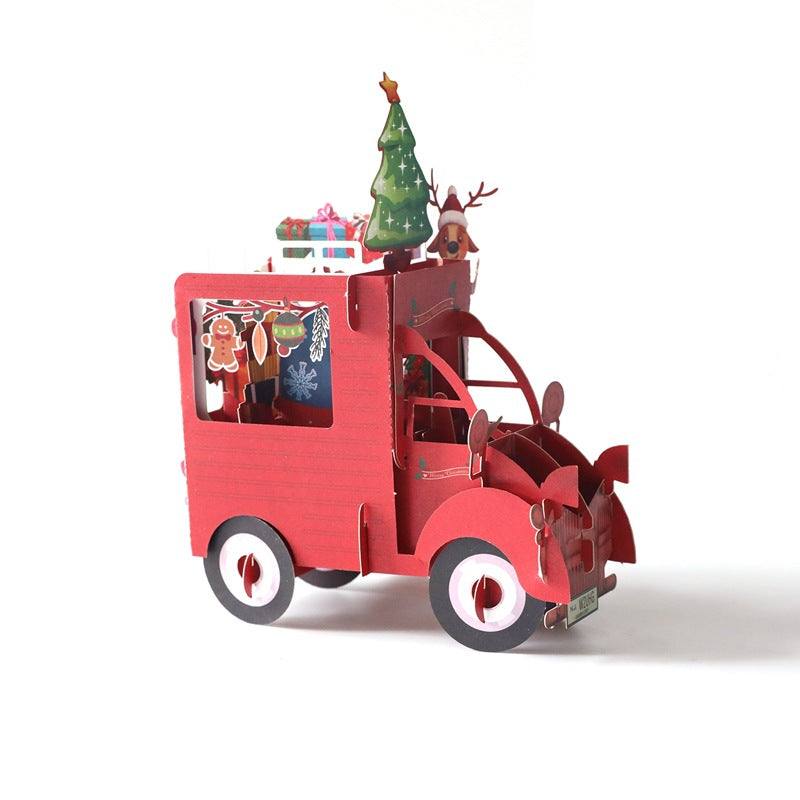 christmas truck puzzle card - truck only