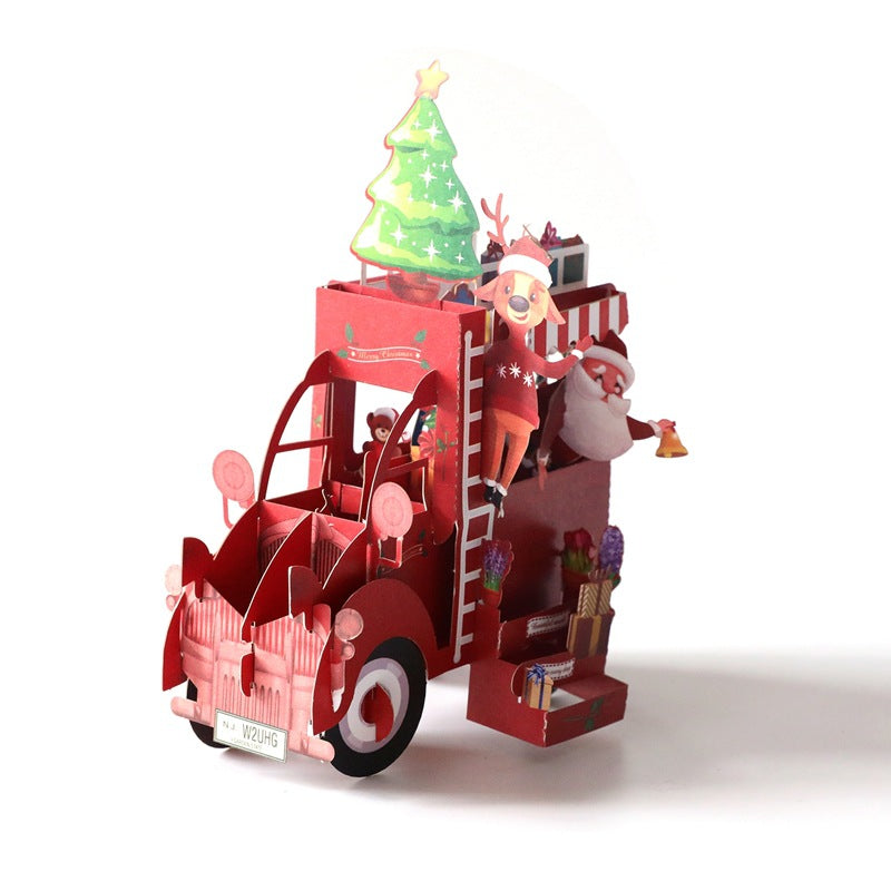 christmas truck puzzle card - truck side