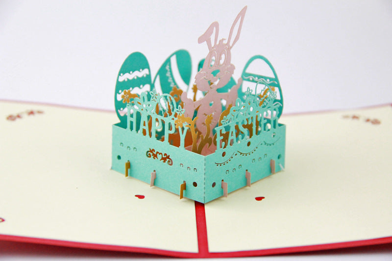 Easter pop up card with bunny