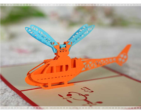 helicopter pop up card side 2 view