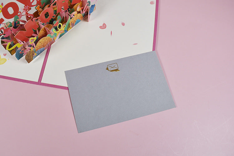 love you more pop up card - tag