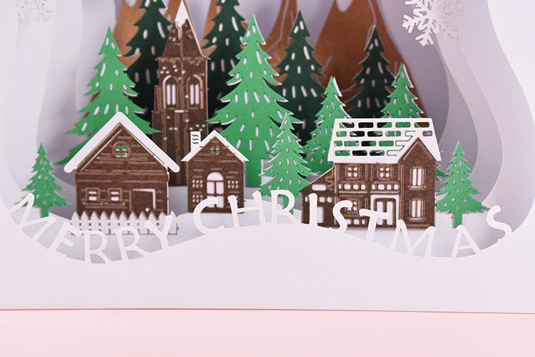 merry christmas tunnel card - close up