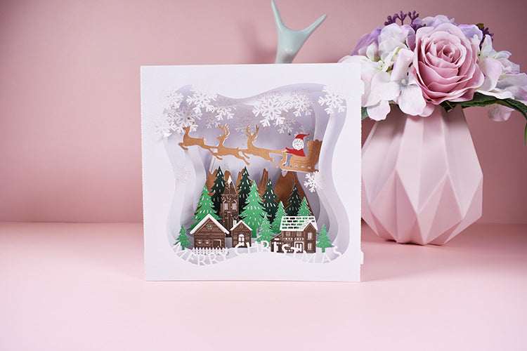 merry christmas tunnel card - front view