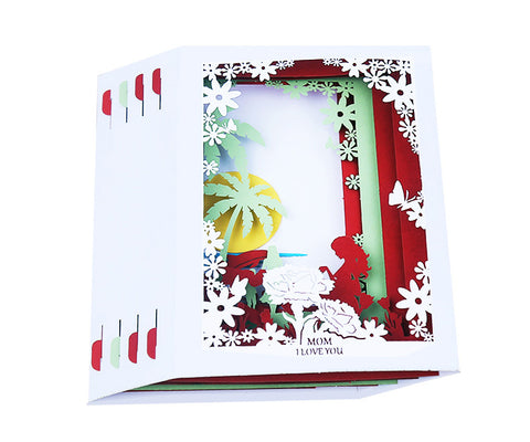 mother's day tunnel card - unfolded