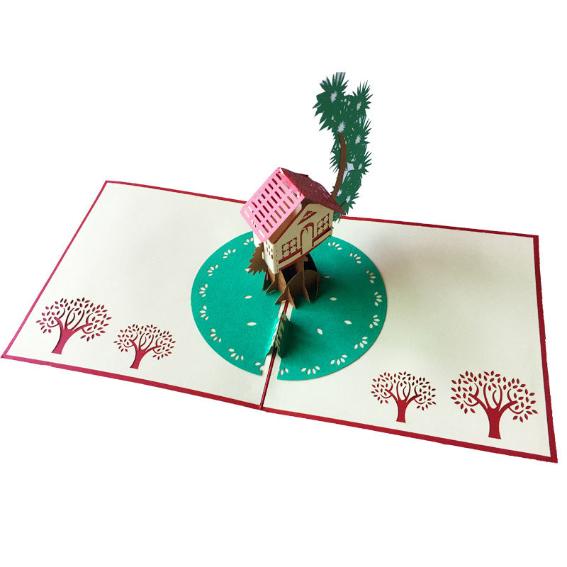 tree house pop up card main view
