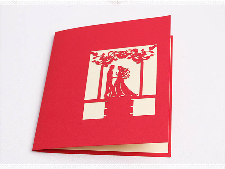wedding pop up card - cover