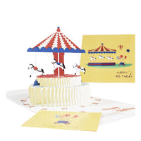 Birthday Card - Pop Up Cake Carousel