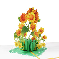 Yellow Sunflowers Pop Up Card