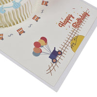 Birthday Card - Pop Up Cake Carousel - Q&T 3D Cards and Envelopes