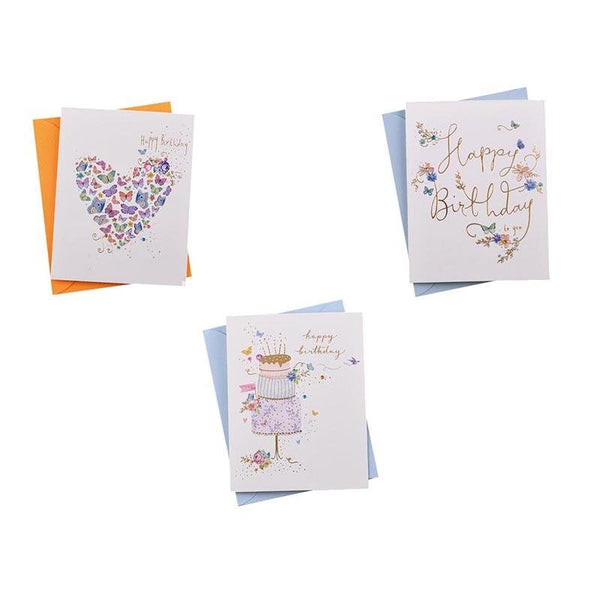 Birthday Cards - Butterfly Series - Q&T 3D Cards and Envelopes