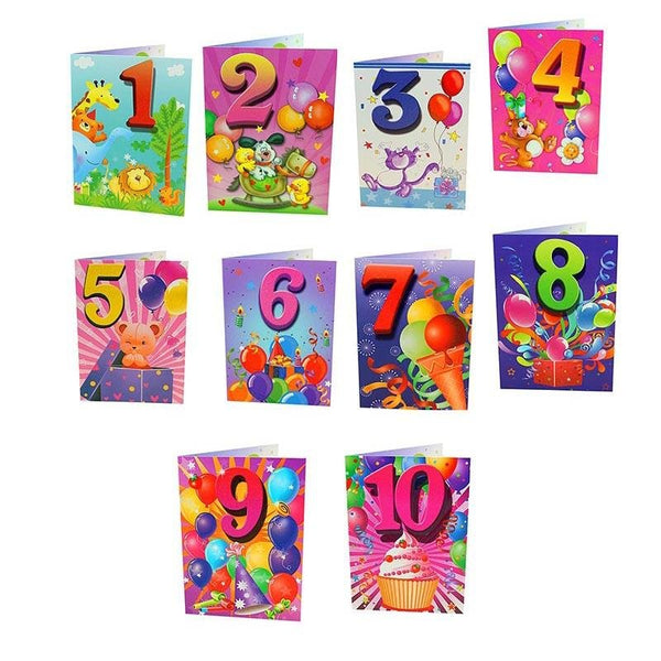 Birthday Cards - Magic Balloons Series - Q&T 3D Cards and Envelopes