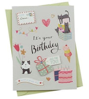 Birthday Cards - Watercolour Series - Q&T 3D Cards and Envelopes