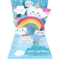 Birthday Pop Up Card - Happy Clouds - Q&T 3D Cards and Envelopes