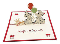 Birthday Pop Up Card - Little Dalmatians - Q&T 3D Cards and Envelopes