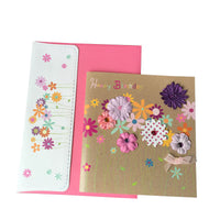 Birthday Card - Colourful Flowers
