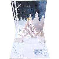 Christmas Card - White Christmas - Q&T 3D Cards and Envelopes